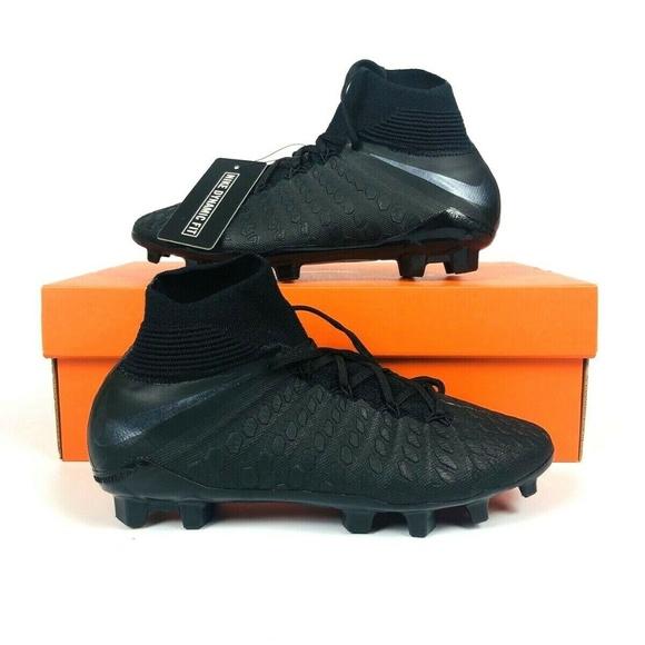 half off 0f948 cfee7 Nike Youth JR Hypervenom Phantom 3 Elite FG Black NWT